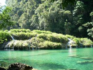 Semuc champey severalwaterfalls